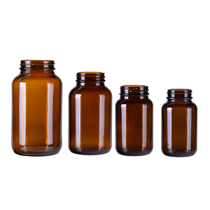 Oral liquid syrup pharmaceutical medical round amber pharmaceutical glass bottles
