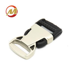 Metal Plating Custom Side Quick Release Plastic Buckles for Seat Belt and Bags