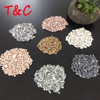 different colors stone cobbles landscaping pebbles for garden and beach