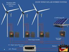 <span class=keywords><strong>20</strong></span> kw wind solar-hybrid-system mit windistar 4.5kw Wind tubine
