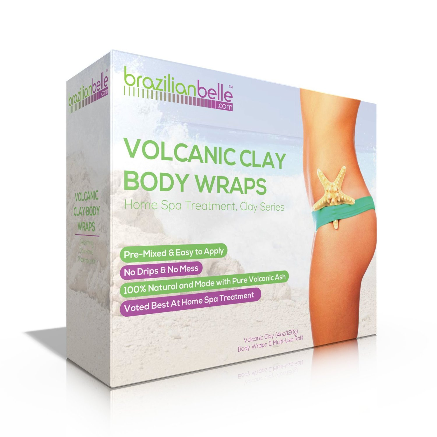 53115561ee Get Quotations · Volcanic Clay Body Wraps - It Works for  Weight Loss