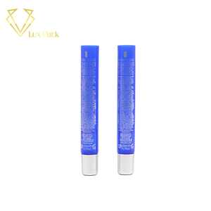 pe soft cosmetic plastic packing tube for skin care with silver hot-stamping