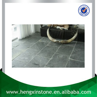 China Factory Direct Sales Cheap 40*20*2cm Thick Natural Surface Rectangle Light Green Slate Floor Tile