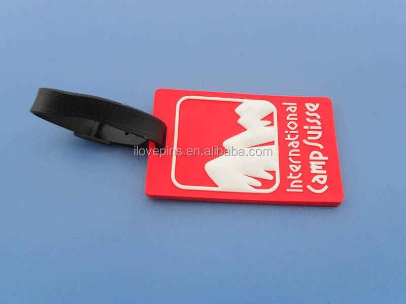 pvc luggage tag for custom logo design, pvc luggage tag for travel accessories