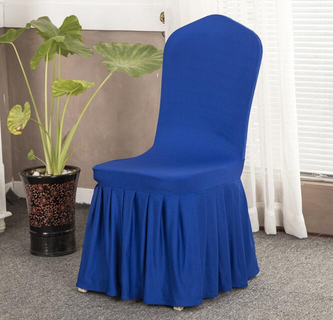 Royal Blue Spandex/Polyester Wedding Hotel Banquet Chair Cover Home Textile Restaurant Chair Covers