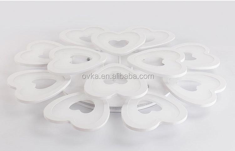 Plafoniere Led A Soffitto Moderno Dimmerabile : A forma di cuore fiore moderno soffitto lampade led per la casa