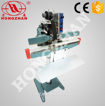 Hongzhan KS series semi-auto hot sale dirct heat pe bag pedal impulse sealer