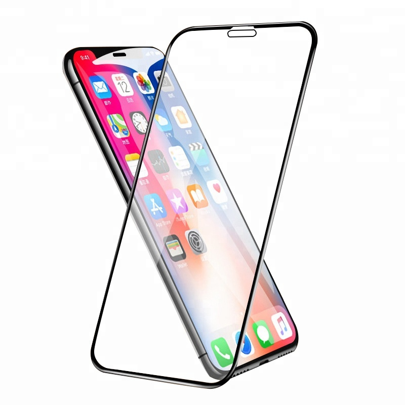 5D cong full bìa Tempered glass đối với iphone X screen protector cho iphone 6 7 8