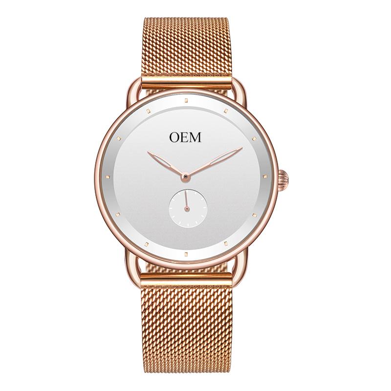 Luxury Rose Gold OEM Custom Your Own Brand Japan Quartz Movement Wrist Watch Custom Mens Watches