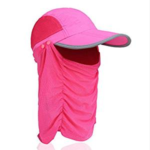 CellCase Visor Sun Caps Hats Reflective Cap Foldable Detachable Quick-drying Anti-mosquito Mask Hat with Head Net Mesh Face UV Sun Protective for Man Women Outdoor Cycling Hiking Fishing
