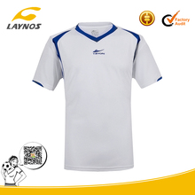 polyester mesh high quality flocking logo soccer jersey