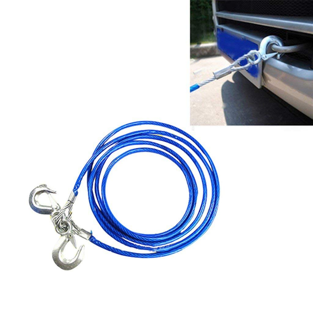 Cheap Blue Tow Rope Find Deals On Line At Alibabacom Ski Harness Get Quotations Myeasyshopping 5ton Durable Steel Wire W Double Hooks Silver