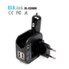 Wholesale Portable Universal 2 In 1 Combo Car Home Travel Wall Charger,Multifunction 2.1A Dual Port Car Charger