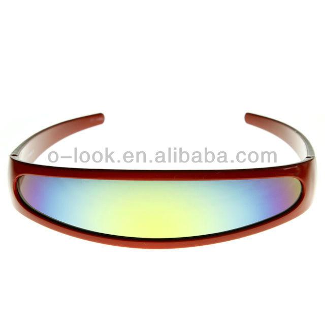 Futuriste cibler cyclope couleur miroir objectif lunettes for Objectif miroir