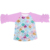 Hot sale fashion scale design boutique sea-maid children cliothes wholesale ruffle raglan baby girl shirts