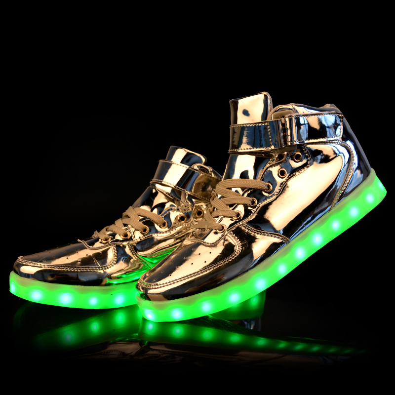 factory price high top led ladies shoes