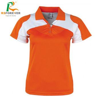 b256a297 Custom New Design 100 Polyester Orange Polo Shirt For Women - Buy ...