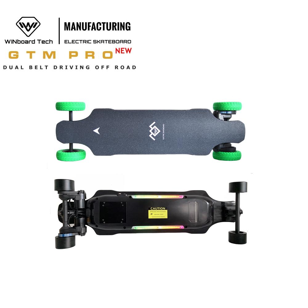 WINboard GTM PRO OEM version 180KV 1000W belt motor 36V 9AH dual belt motor longboard off road electric skateboard