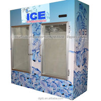 Double glass door air cooled ice storage bin (-12 degrees C)