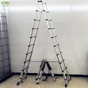 Double Side Equilateral Folding Aluminum Telescopic Ladder 2m 2.6m 2.9m 3.2m 3.8m