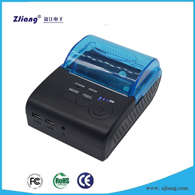 Zjiang Printers 5805 58mm Bluetooth Thermal Receipt Printer for Android/IOS Mobile Phone Hyaline Cover with Big Paper Warehouse