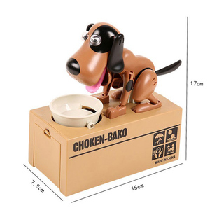 Robotic Dogs Automatic Eating Coin Piggy Bank Money Saving Box pooping dog coin bank PVC Piggy Bank