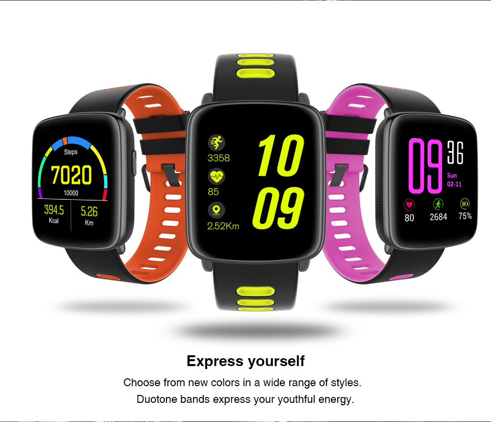 Bluetooth Waterproof IP68 Sport Smartwatch GV68 With Heart Rate Monitor And Sleep Analysis