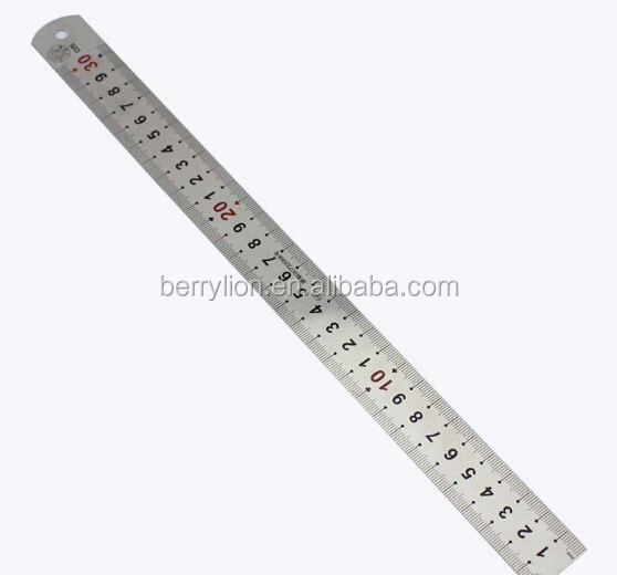 Double sizes stainess steel ruler for student / home DIY / craftman