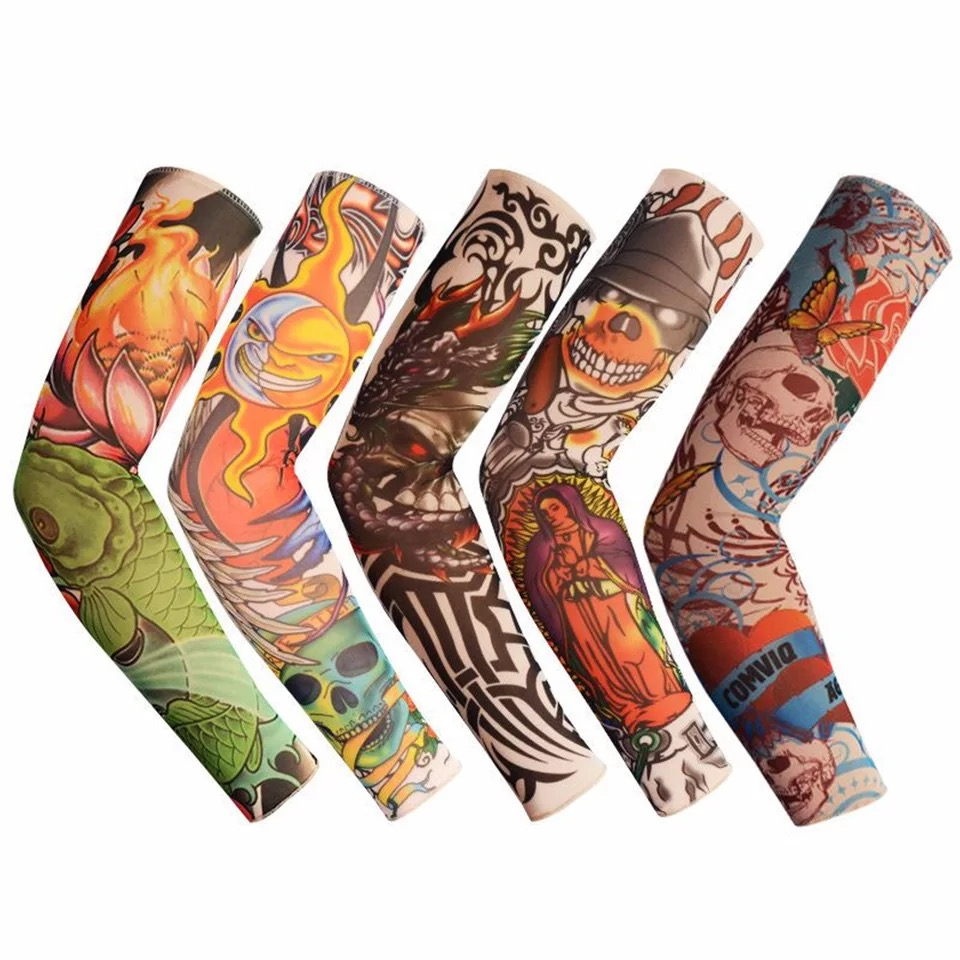 Men's Accessories Fashion Men And Women Tattoo Arm Leg Sleeves High Elastic Nylon Halloween Party Dance Party Tattoo Sleeve #105 New Anti