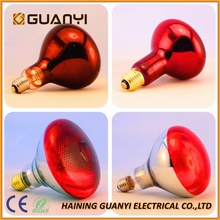 150W 175W 250W top painted red R125 and PAR38 infrared heat lamp for Animal husbandry