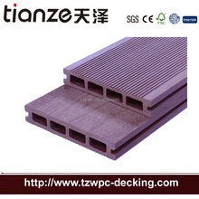 WPC China manufacture Hollow outdoor decking grooved board