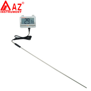 AZ-8891 Digital Wall Mounted Waterproof Thermometer w/Long Probe Boiler Water Temperature Meter Tester