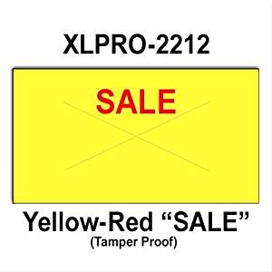 "240,000 XLPro 2212 compatible ""Sale"" Fluorescent Chartreuse General Purpose Labels to fit the XLPRO-22B, XLPRO-22C, XLPRO-22D, XLPRO-22V Price Guns. Full case, includes 8 ink rollers."