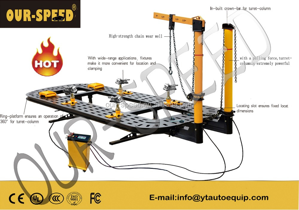 OUR SPEEDused auto body frame machine/car chassis straightening bench/car garage repair tools OS-HD2100C