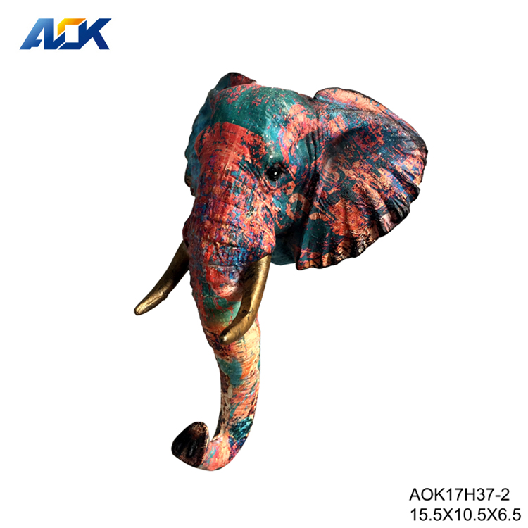 Resin Animal Head Wall Mounted Elephant Figurines Product On Alibaba