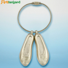 Fashion Custom Lanyard Metal Shoe Keychain