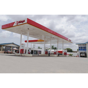 aluminium profile signs gas station construction steel structure for petrol station canopies