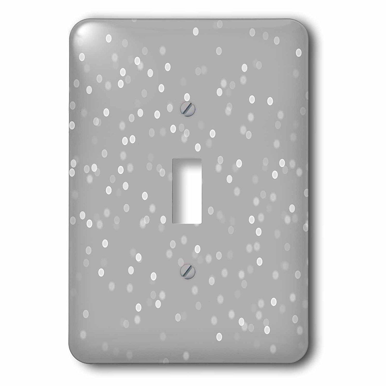 3dRose (1) Single Toggle Switch (lsp_265718_1) Grey Bokeh Confetti