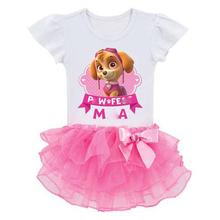 2016 New Summer Mini Baby Girls Dress Princess Baby Clothes Children Dress Cartoon Cartoon Dog Kids Tutu Dresses Girls Clothes