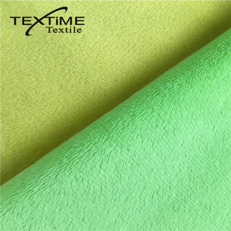 Perfect 100% Polyester Supersoft Plush Fleece Fabric For Blanket,Bathrobe,Home Textile,Toys