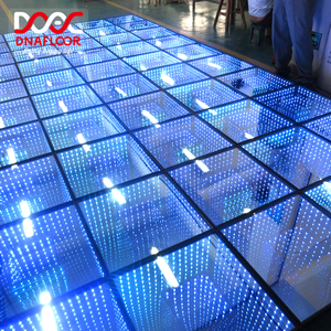 Customizable 60 120 pcs wedding club party light 3d effect led disco 144pcs dance floor light
