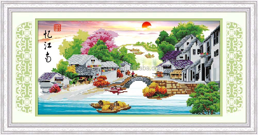 Diamond paint with beautiful scenery design