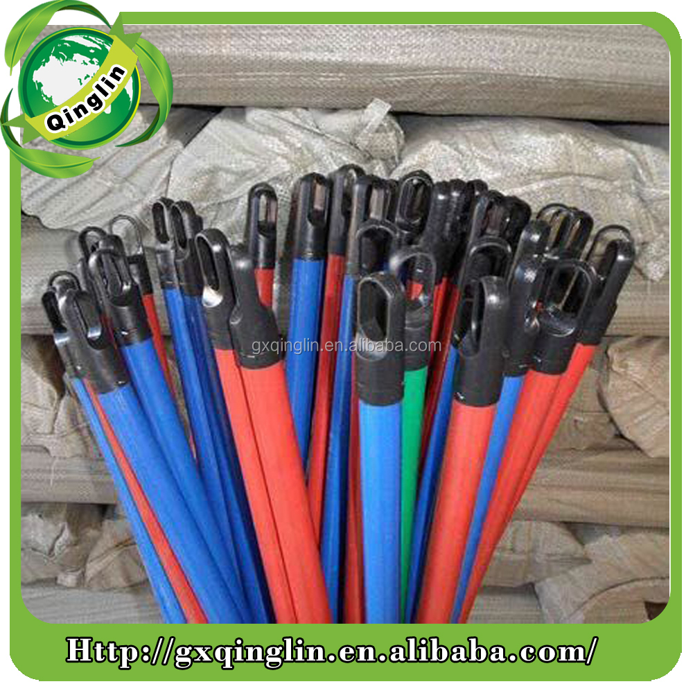 120x2.2cm PVC coated broom handle /PVC Coated wooden stick/PVC made by Qinglin