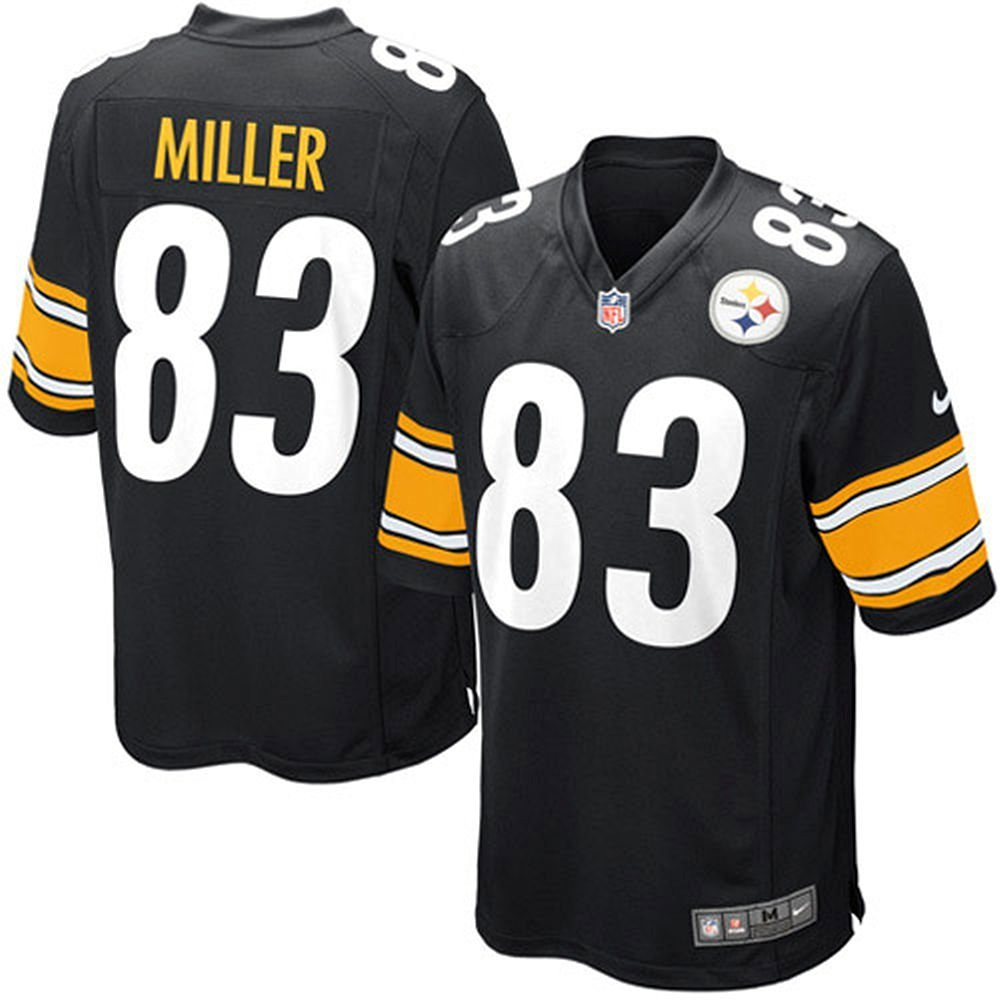 08cdf7a96 Get Quotations · Heath Miller Pittsburgh Steelers NFL Nike Youth Black Home  Replica Jersey (Large 14-16