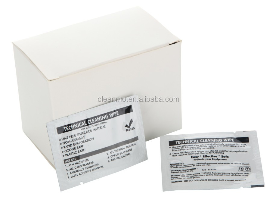 Thermal Printhead Cleaning Wipes 99 Ipa Solution Buy