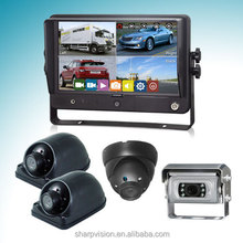 9 inch backup camera system with recording monitor for bus