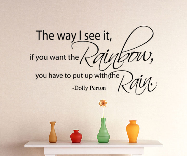 The Way I See It If You Want The Rainbow Wall Sticker Home Decor Creative Stickers Funny Decals For Kitchens