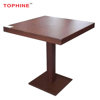 Commercial Contract Galvanized Chis Wooden Look Finish Aluminium Table Used Bistro