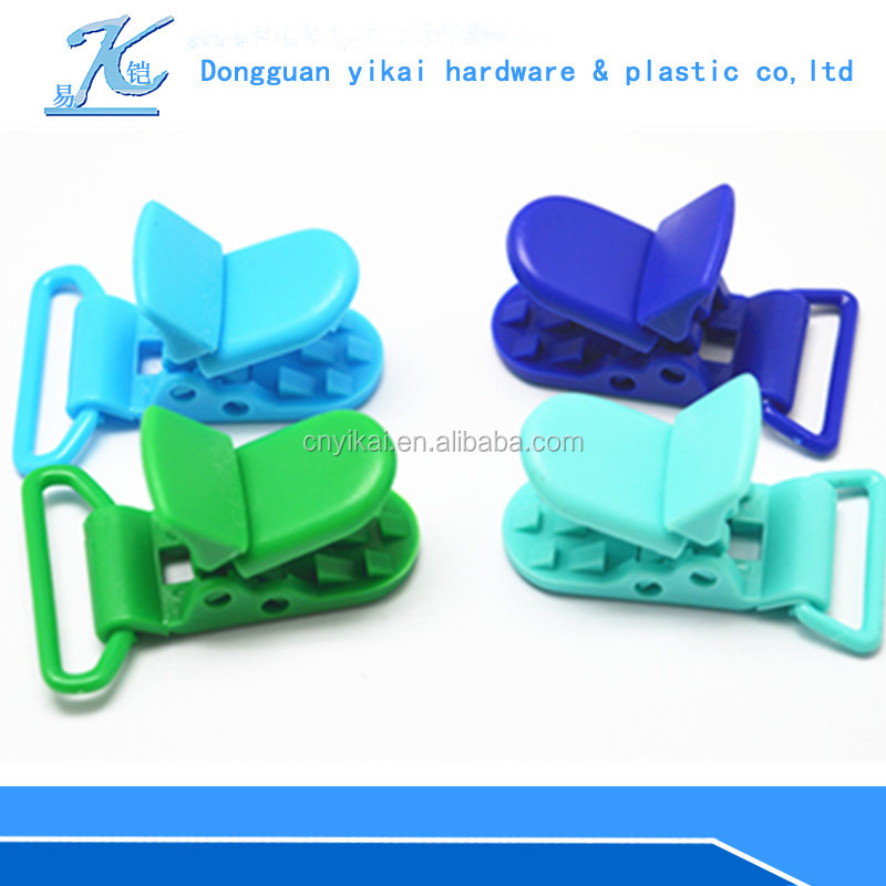 High quality colored plastic paper clip,plastic money clip,baby feeding pacifier clip