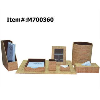 Desktop Pu Mini Luxury Office Stationery Desk Set